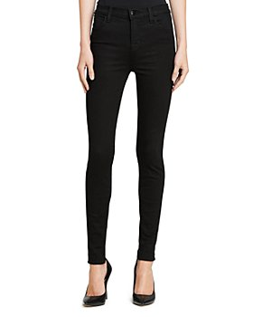 J Brand - Maria High-Rise Skinny Jeans in Seriously Black