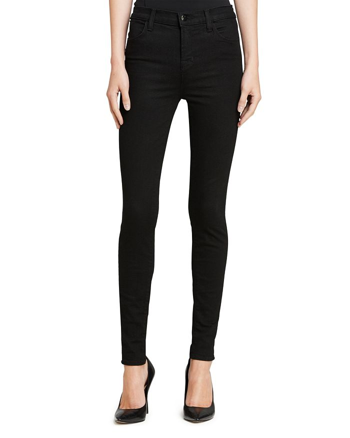 ed05aa632600 J Brand Maria High-Rise Skinny Jeans in Seriously Black | Bloomingdale's