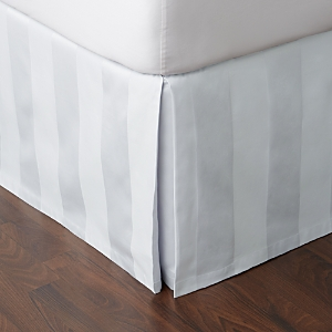 Hudson Park 600TC Stripe Bedskirt California King  100 Exclusive