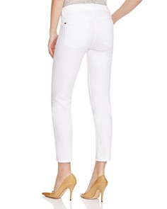 7 For All Mankind - Kimmie Crop Skinny Jeans in Clean White