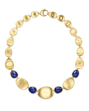 Marco Bicego 18K Yellow Gold Lapis Collar Necklace, 18