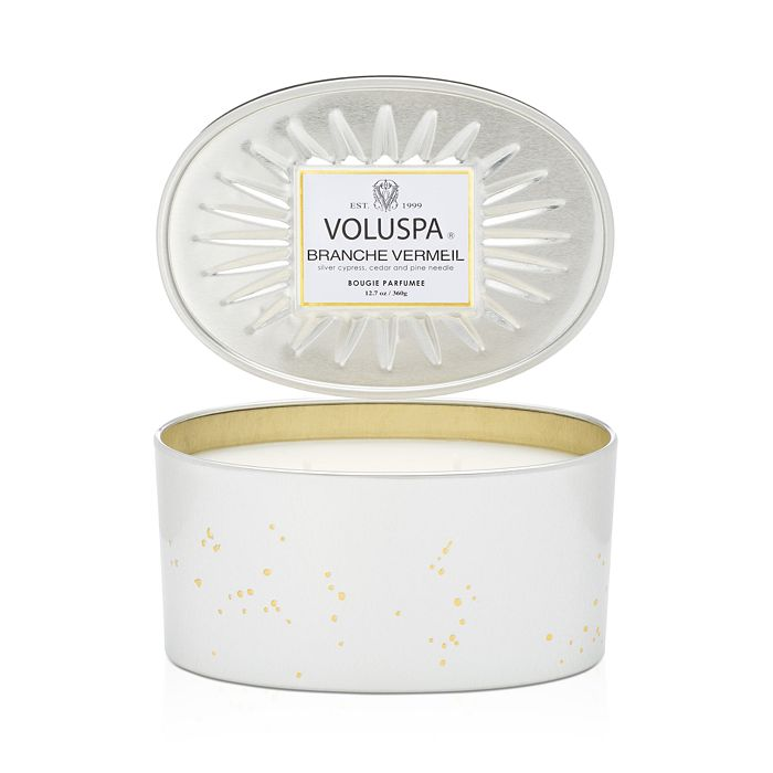 Voluspa - Branche Vermeil Oval Shaped Tin Candle