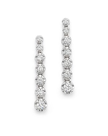 Bloomingdale's - Diamond Graduated Drop Earrings in 14K White Gold, .50 ct. t.w. - 100% Exclusive