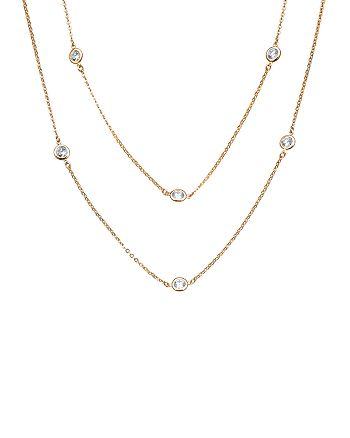 """Crislu - Dual Strand Necklace, 36"""""""