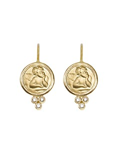 Temple St. Clair 18K Yellow Gold Angel Earrings with Diamonds - Bloomingdale's_0