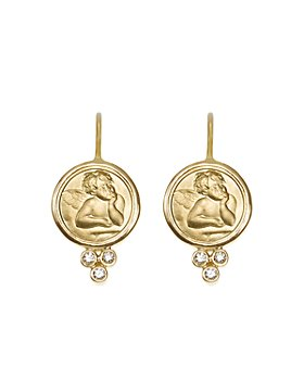 Temple St. Clair - Temple St. Clair 18K Yellow Gold Angel Earrings with Diamonds