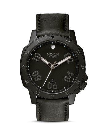 Nixon - Ranger Leather All Black Watch, 44mm