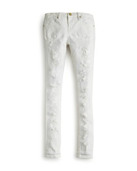 BLANKNYC - Girls' Distressed White Skinny Jeans - Big Kid