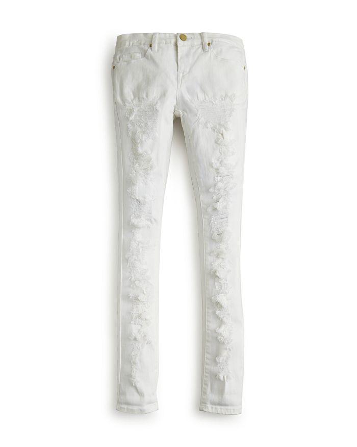 BLANKNYC - Girls' Distressed White Skinny Jeans - Big Kid