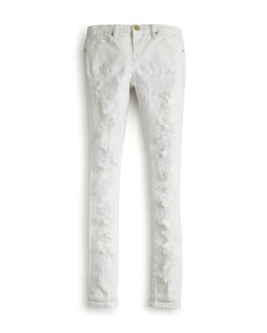 Blanknyc Girls' Distressed White Skinny Jeans - Sizes 7-14 thumbnail