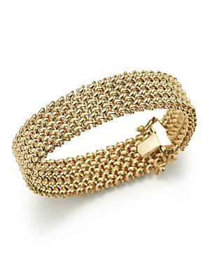 14K Yellow Gold 4-Row Link Bracelet - 100% Exclusive