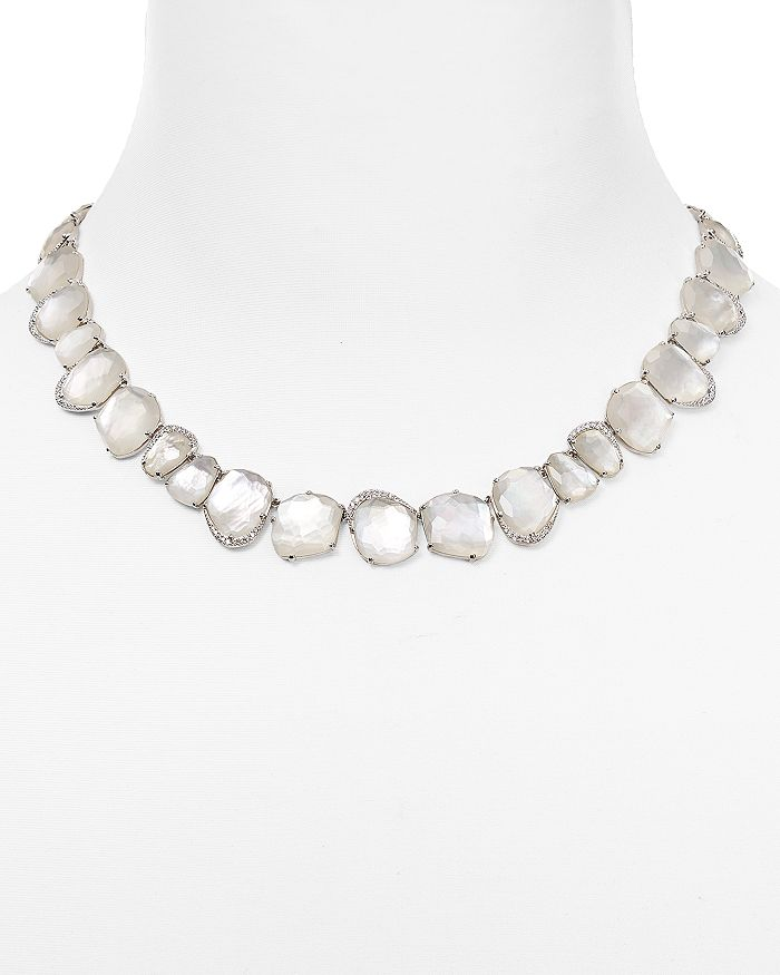 """Nadri - Mother-of-Pearl Collar Necklace, 16"""""""