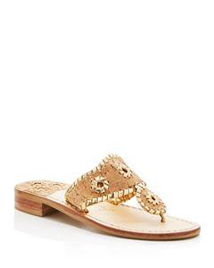 74af98886104 Jack Rogers Women s Captiva Demi Wedge Thong Sandals