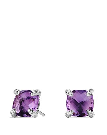 David Yurman - Châtelaine Earrings with Amethyst and Diamonds