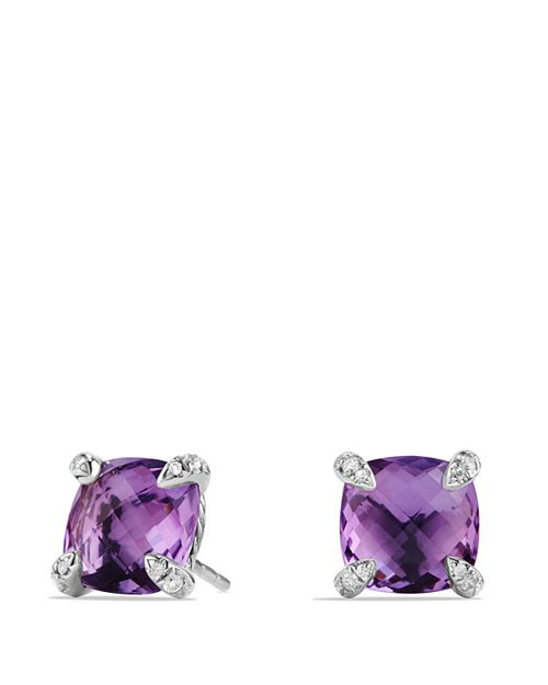 David Yurman - Châtelaine Earrings with Amethyst and Diamonds
