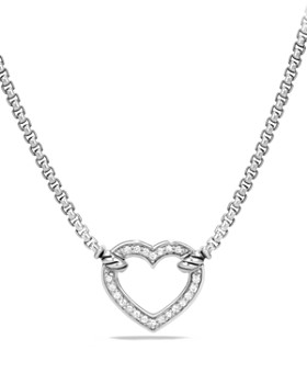 David Yurman - Cable Collectibles Heart Station Necklace with Diamonds