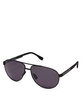 HUGO - Men's Polarized Brow Bar Aviator Sunglasses, 63mm