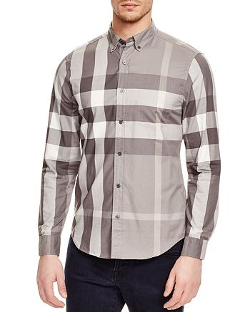 Burberry Fred Check Slim Fit Button-Down Shirt   Bloomingdale s 250f2738bc7
