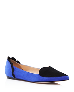 Isa Tapia Clement Suede Pointed Toe Heart Flats