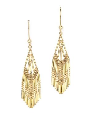 14K Yellow Gold Beaded Dangle Earrings - 100% Exclusive