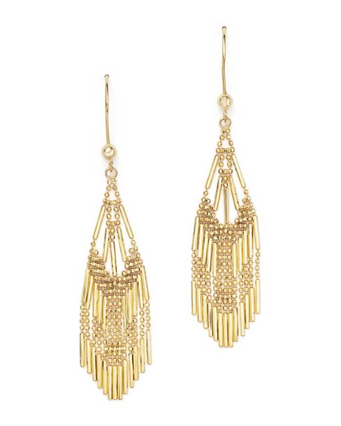 Bloomingdale's 14K Yellow Gold Beaded Dangle Earrings - 100% Exclusive    Bloomingdale's