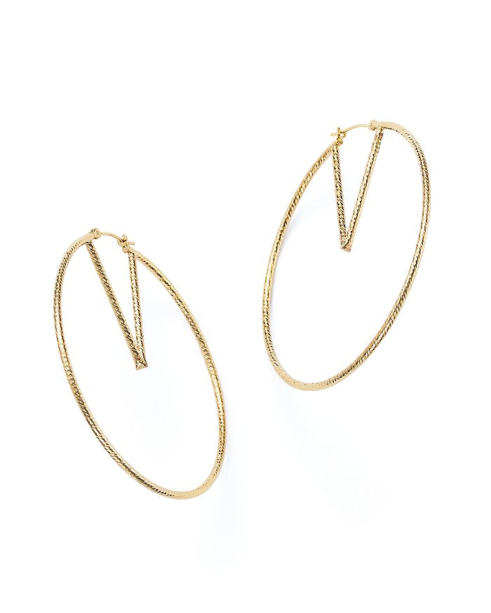 Bloomingdale's - 14K Yellow Gold V-Hoop Earrings - 100% Exclusive