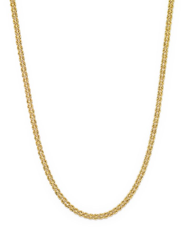 """Bloomingdale's 14K Yellow Gold Double Row Light Rope Necklace, 18"""" - 100% Exclusive  