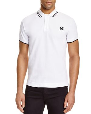 McQ Alexander McQueen Swallow Tipped Slim Fit Polo Shirt