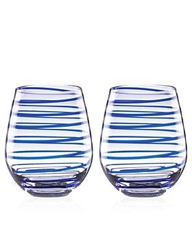 kate spade new york - Charlotte Street Stemless Wine Glass, Set of 2