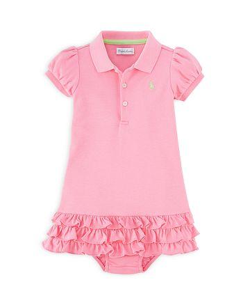 384366e73 Ralph Lauren Girls' Ruffled Polo Dress & Bloomers Set - Baby ...