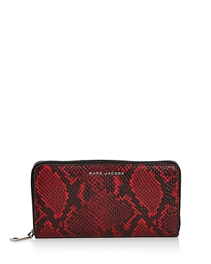 Marc Jacobs Snake-Embossed Continental Wallet