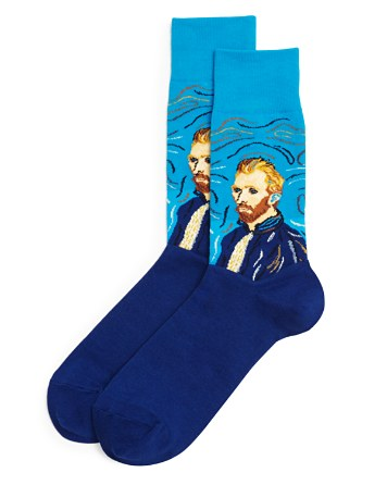 $Hot Sox Van Gogh Self Portrait Print Socks - Bloomingdale's