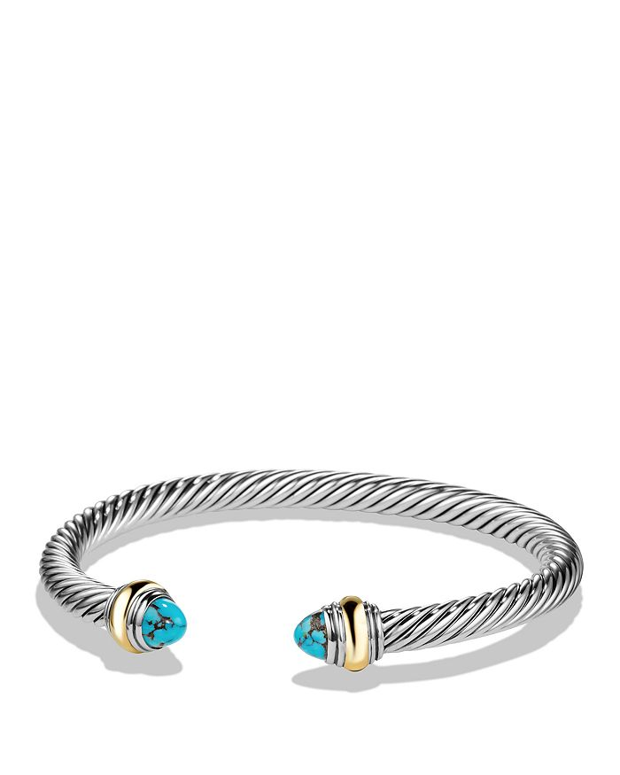 David Yurman - Cable Classics Bracelet with Turquoise and 14K Gold