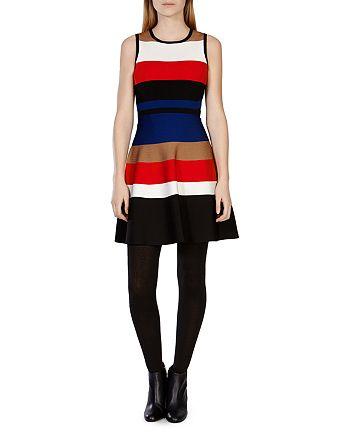 KAREN MILLEN - Striped Sweater Dress