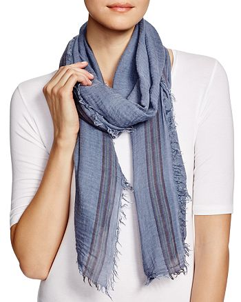 AQUA - Border Stripe Scarf - 100% Exclusive