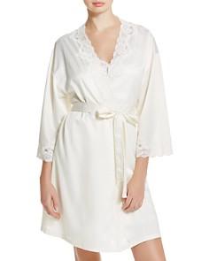 Ralph Lauren Signature Collection Satin Wrap Robe - Bloomingdale's_0