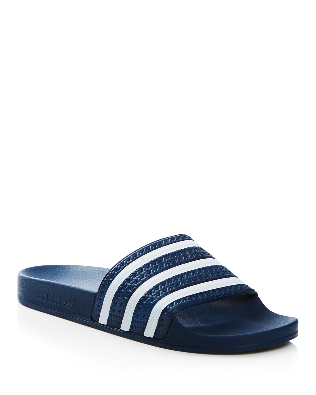 Mens Blue adidas Originals Adilette Slider Flip Flops GH158147s