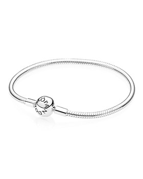 PANDORA - Moments Collection Sterling Silver Barrel Clasp Bracelet