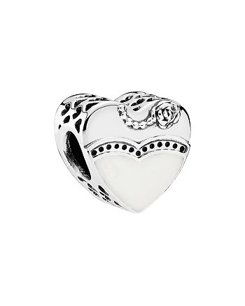 PANDORA - Charm - Sterling Silver, Cubic Zirconia & Enamel Our Special Day, Moments Collection