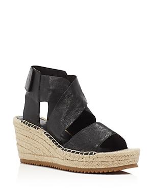 Eileen Fisher Willow Espadrille Platform Wedge Sandals