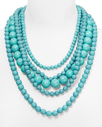 "BAUBLEBAR - Globe Strands Layered Necklace, 18"""