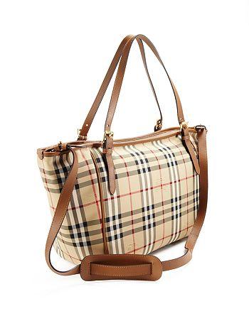 Burberry - Check Diaper Tote Bag