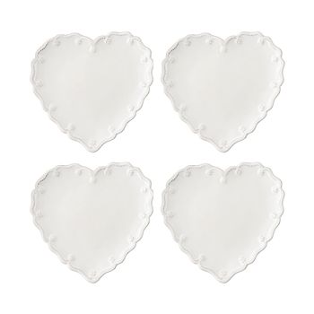 Juliska - Berry & Thread Heart Cocktail Plate, Set of 4