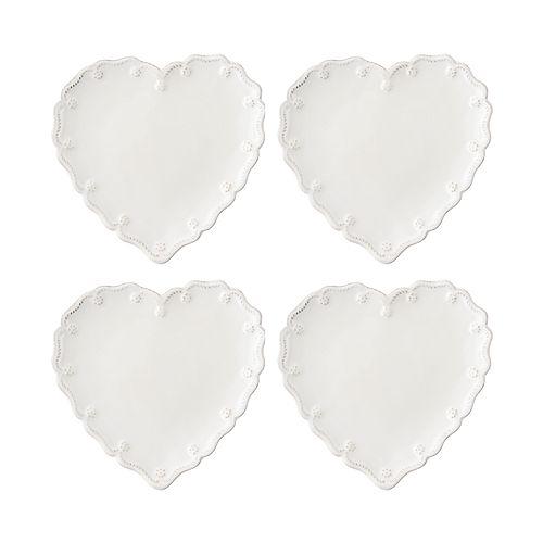 Juliska - Berry & Thread Heart Cocktail Plate, Set of 4