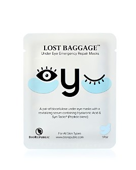 BioRepublic - Lost Baggage Under Eye Emergency Repair Mask, 1 Pair