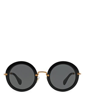Miu Miu - Women's 13NS Round Sunglasses, 49mm