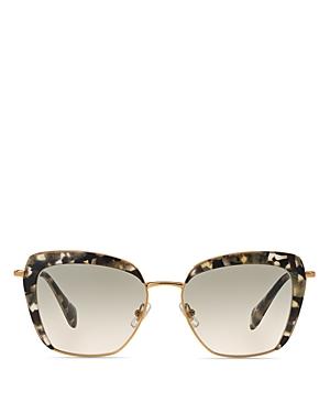 Miu Miu 52QS Square Sunglasses, 53mm