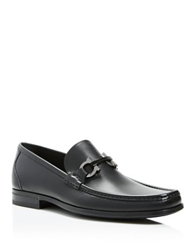 Salvatore Ferragamo - Men's Grandioso Calfskin Leather Loafers with Double Gancini Bit