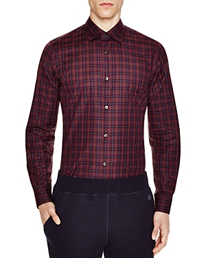 Z Zegna Plaid Slim Fit Button-Down Shirt
