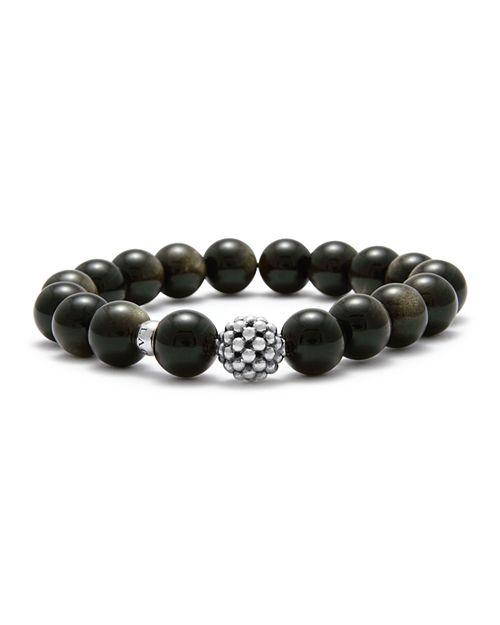 LAGOS - Caviar Ball Beaded Golden Obsidian Bracelet, 10mm